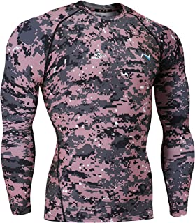 Men's Cool Dry Compression Baselayer Long Sleeve T Shirts