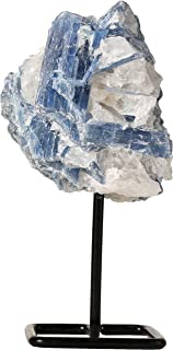 Beverly Oaks Blue Kyanite Crystal Home Decor - Crystal Decor Healing Crystals on Metal Stand - Healing Stones for Communication