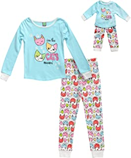 Dollie & Me Girls' Snug Fit Sleepwear Set and Matching Doll Outfit