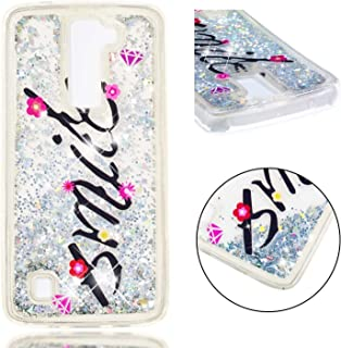 LG K7 Case, LG K8 Case, AIKIN LG K7/K8 Luxury Fashionable Case, Bling Bling Flowing Liquid and Sparkle Hard Quicksand Waterfall Soft TPU Girly Case for LG K7/K8 (Smile)