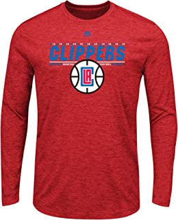 Majestic Los Angeles Clippers NBA Men's Thrill A Minute Long Sleeve Performance T-Shirt