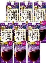 【国産ワイン売上NO.1】 サントリー 酸化防止剤無添加のおいしいワイン。 濃い赤 [ 赤ワイン ミディアムボディ 日本 1800mlx6本 ]