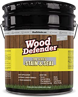 Wood Defender - 200 Series - Stain & Seal - Transparent - Leatherwood - 5 Gallon