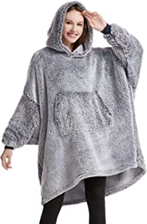 HORIMOTE HOME Oversized Blanket Hoodie for Women Snuggle Hoodie for Adults Teen Wearbale Blanket Sweatshirt, Super Warm an...