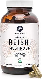 Neurogan Reishi Mushroom Capsules (120 Capsules) - 1000mg Organic Ganoderma Lucidum per Serving - Natural Stress Relief, Immune System Booster & Liver Cleanse - Vegan, Non-GMO, Gluten Free