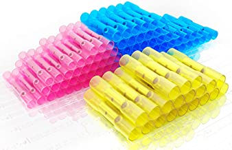 Heat Shrink Wire Connectors 100 pcs Kit Waterproof Insulated Electrical Crimp Marine Automotive