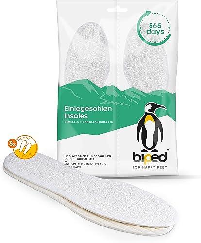 biped 3 paires de semelles pieds nus - souples et antibactériennes - semelles intérieures avec une agréable odeur de ...