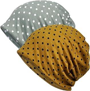 Jemis Womens Cotton Chemo Hat Beanie Scarf - Beanie Cap Bandana for Cancer