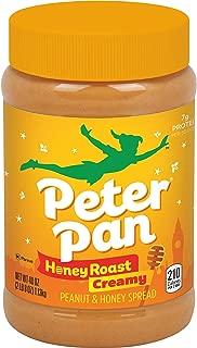 Peter Pan Honey Roast Creamy Peanut and Natural Honey Spread, 40-Ounce Plastic Jar (Pack of 2)