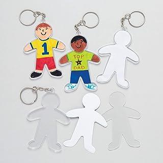 Baker Ross Kit para Diseñar Llaveros en Forma de Personas Perfectos como Regalo Personalizado Kits de Artesanía para Niños...