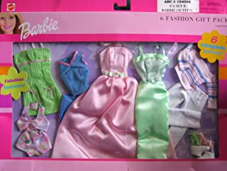 BARBIE 6 FASHION GIFT PACK w 6 Complete Fabulous FASHIONS! (2000)