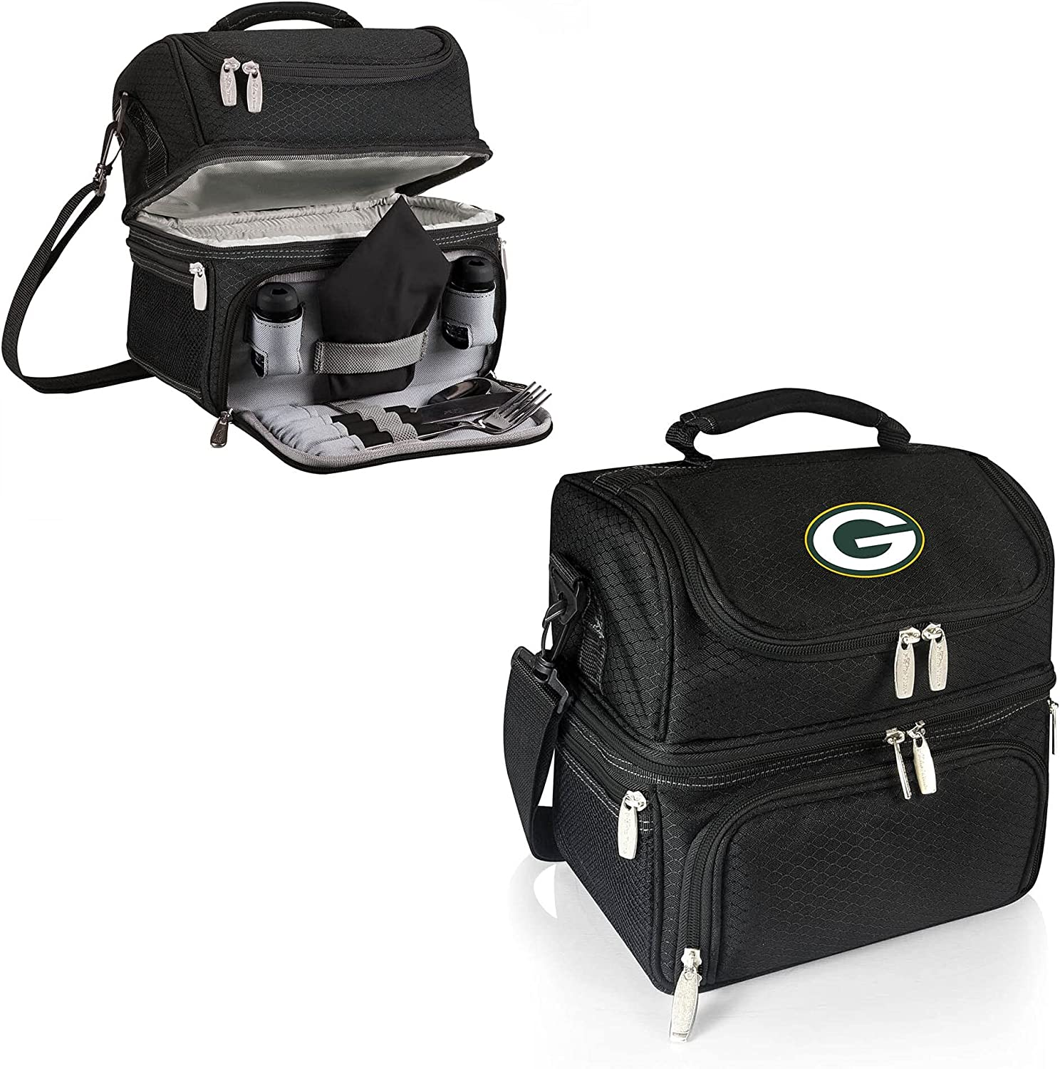 PICNIC TIME Black Green Bay free Lunch Pranzo Packers Outstanding Tote
