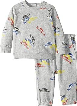 Billy + Loopie Car Printed Fleece Set (Infant)