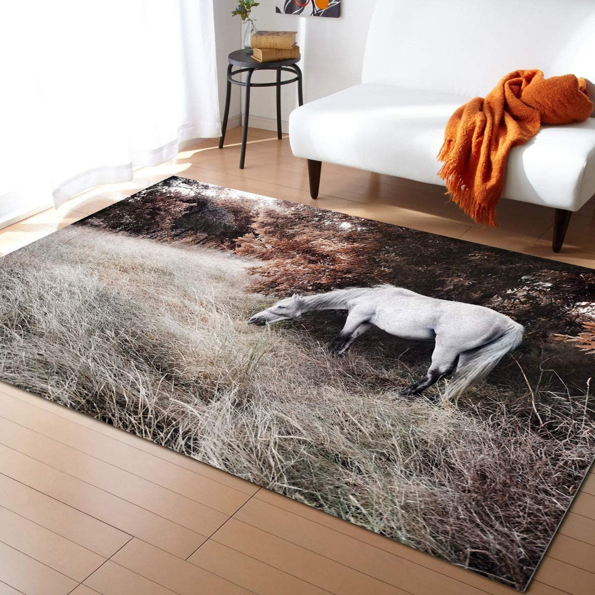 Large Area Rug for Living Room- Many popular brands White in Countryside S Popularity Horse The