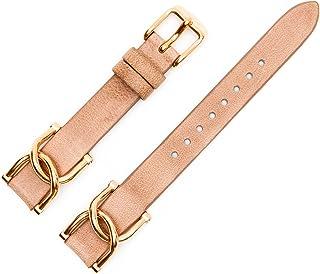 Fossil - Cinturino in pelle per orologio, 12 mm; colore: beige,  ES-3466 LB-ES3466