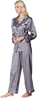 Lavenderi Women's Long Sleeves Premium Satin Pajama Sets