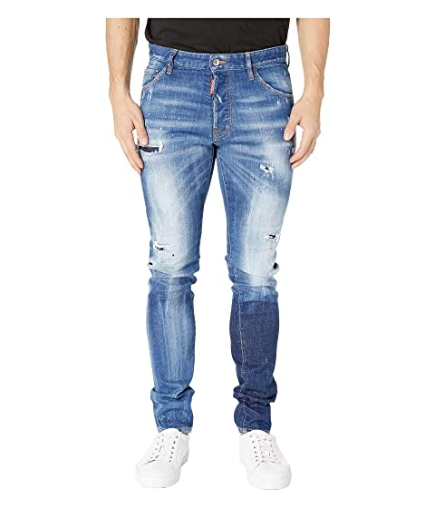 DSQUARED2 Acid Green Spots Wash Cool Guy Jeans in Blue