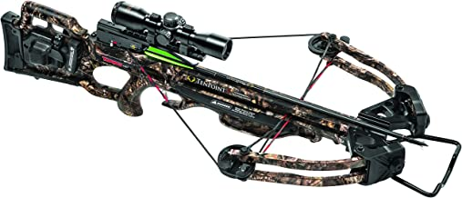 TenPoint Turbo GT Crossbow Package with 3x Pro-View 2 Scope, 3 Pro-Elite Carbon Arrows, 3-Arrow Instant Detach Quiver, and Ambidextrous Side Quiver Mount