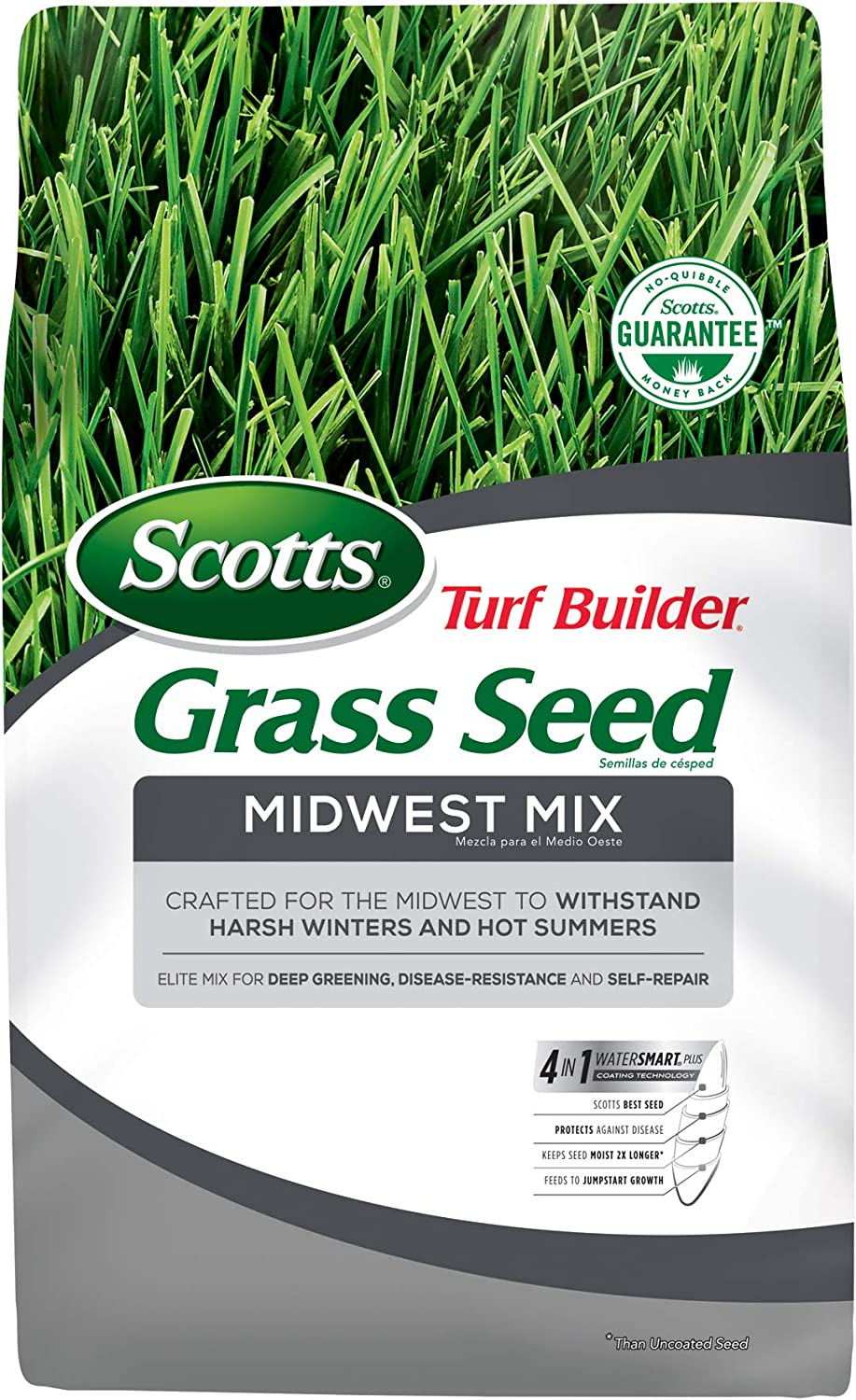 Scotts Turf Builder Grass Factory outlet Seed New item Midwest Mix lb. Withstands 3 H -