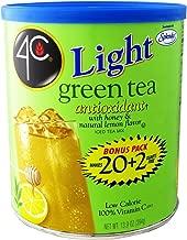 4C Light Powdered Ice Tea Mix with Splenda 13.9oz - Makes 22 Quarts - Choice of 4 Flavors (Green Ice Tea)