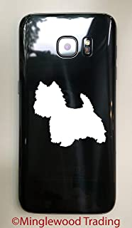 """Minglewood Trading - White - Set of Four (4) West Highland White Terrier 2.5"""" Vinyl Stickers - Westie Dog Puppy - 20 Color Options"""