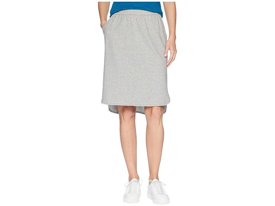 Eileen Fisher Organic Cotton Speckled Knit Simple Skirt (Moon) Women
