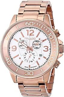 MULCO Unisex MW4-90147-331 Analog Display Swiss Quartz Rose Gold Watch