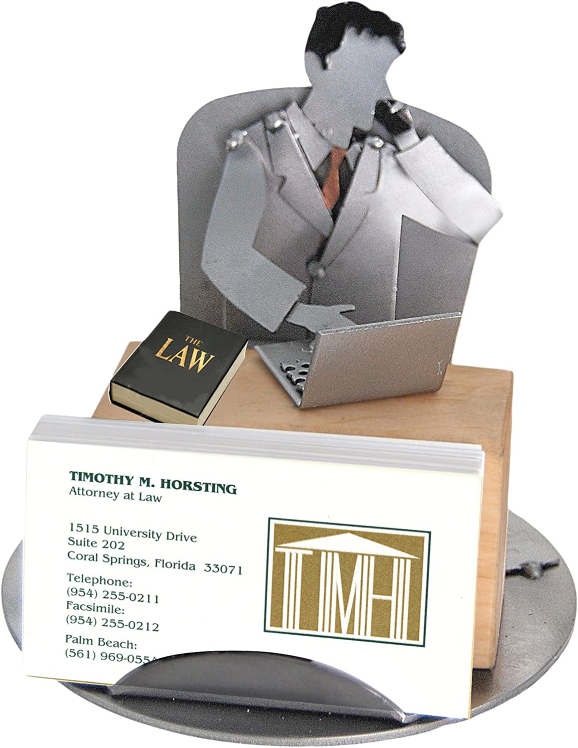 H Regular dealer K All items free shipping SCULPTURES 6786BC Male Attorney Holder Business Card