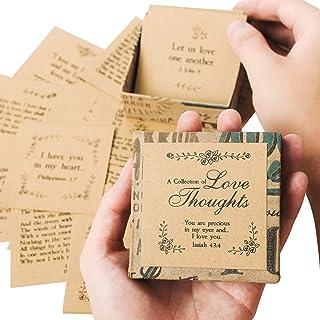 مجموعة من عروض الحب من نافي بيوانيا - 47 بطاقة ملاحظة، صندوق لطيف بحجم النخيل وصديق للبيئة | حشوات رومانسية لصندوق الغداء ...