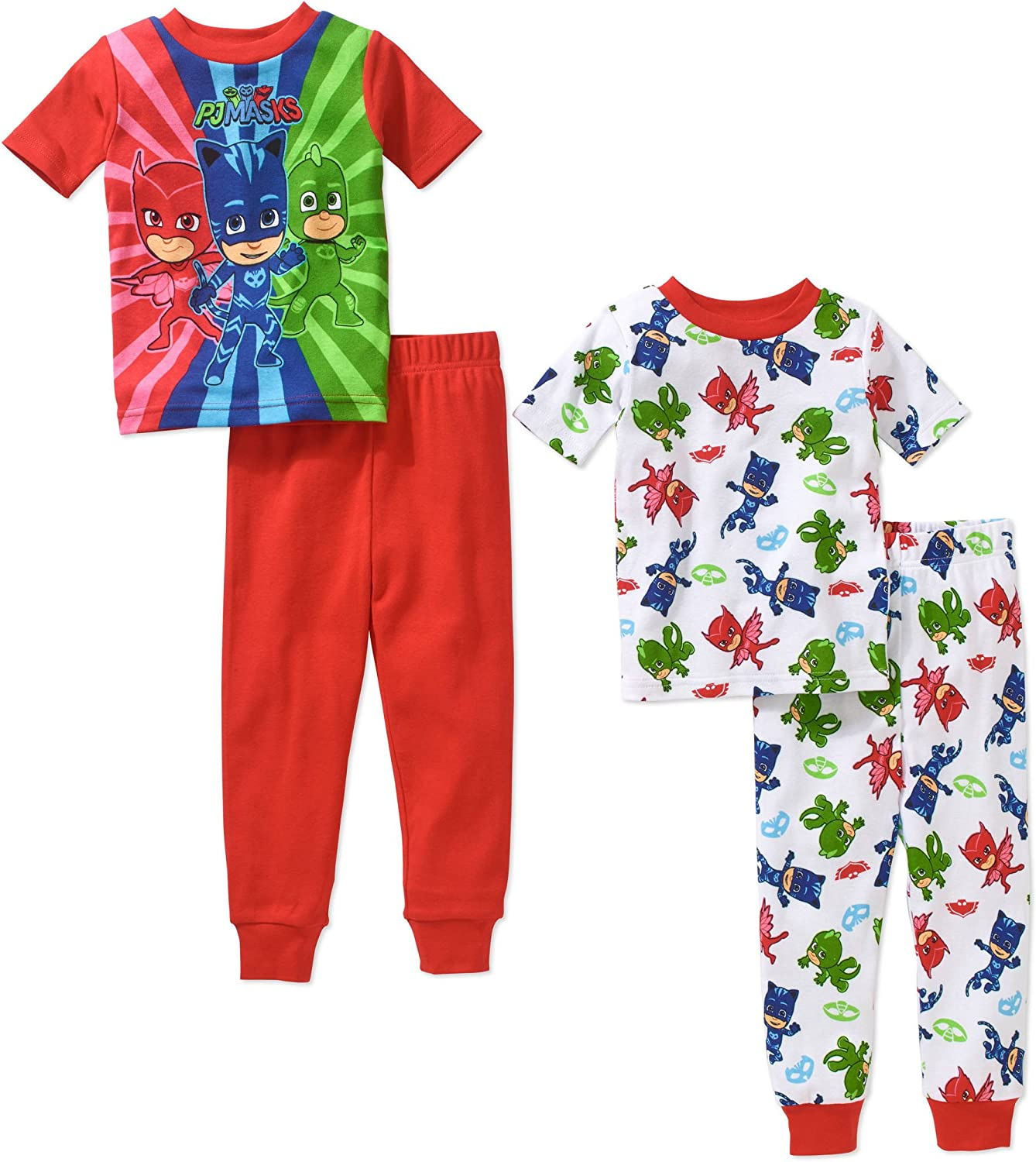 Clearance SALE Limited time PJ Masks Boy 4 Ranking TOP10 PC Short Sleeve Cotton Tight Pajama Size Fit Set