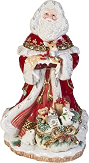Fitz and Floyd Yuletide Santa Figurine, 19-Inch, Holiday Red