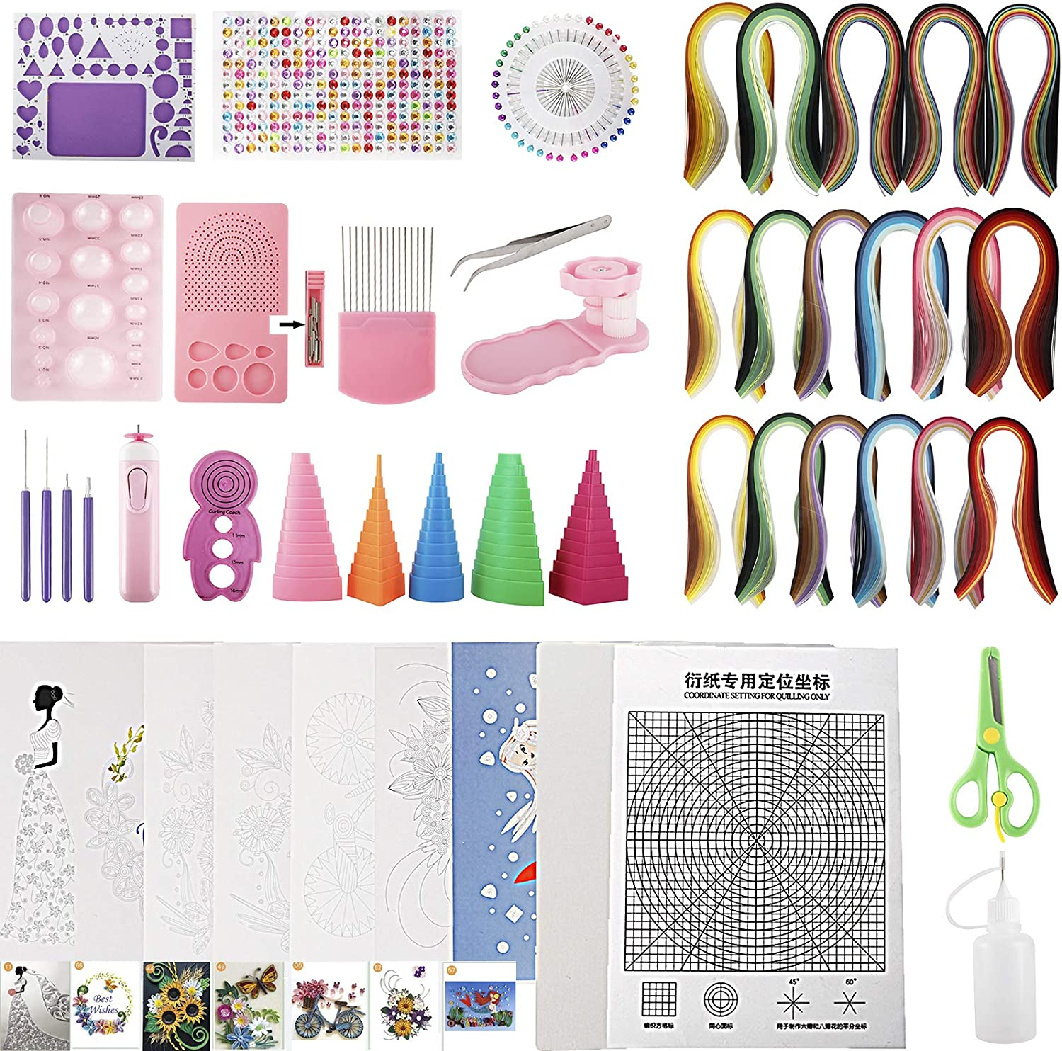 Toolly Paper Quilling 2021 spring and summer new Kit with Strips Tools low-pricing an 1860 and