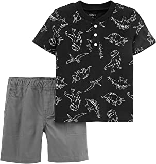 Carter's Baby Boys' 2 Piece Nap Hard Play Hard Tee and Shorts Set