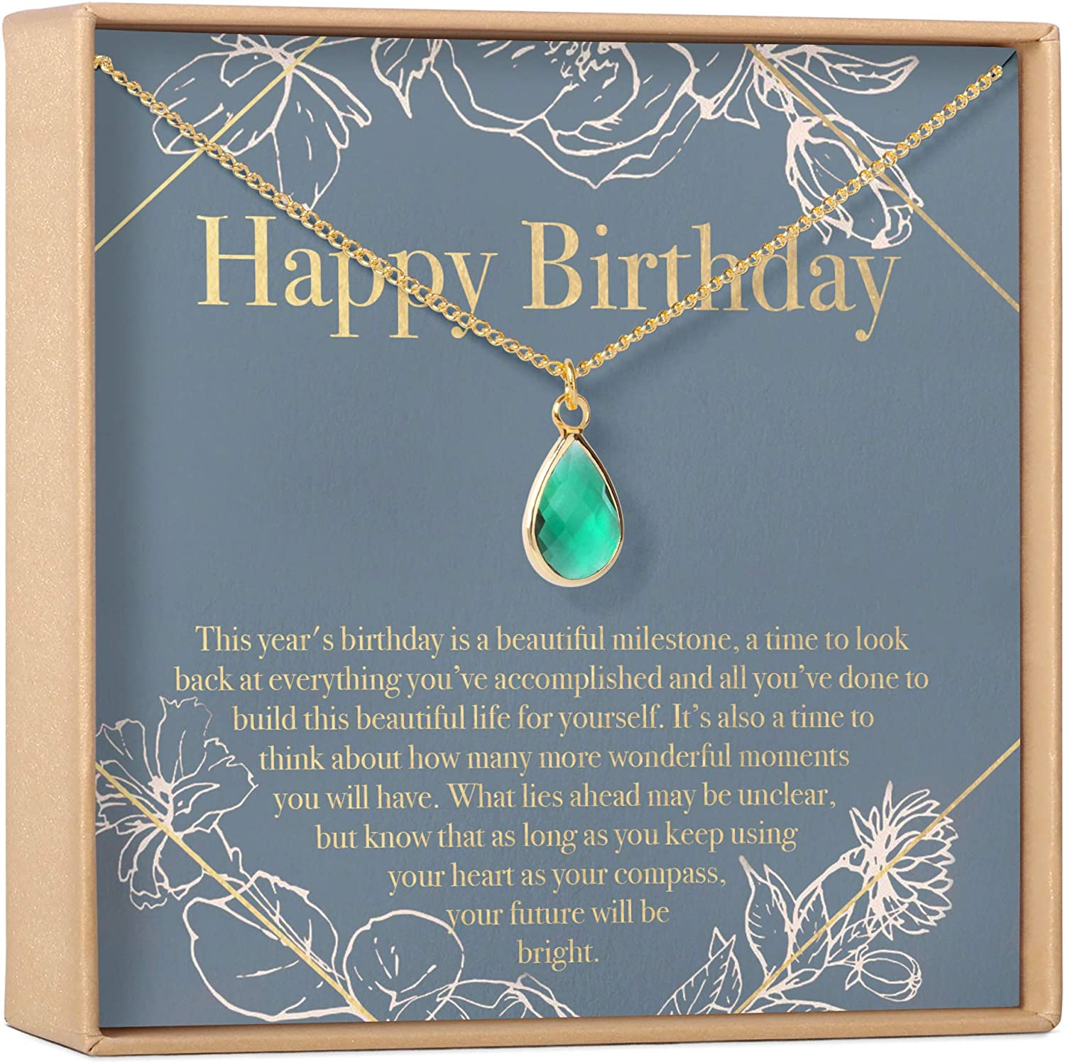 Birthday Gift Necklace - Happy free shipping shopping for
