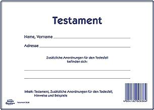 Testament Muster Pdf Download Chip