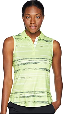 Spaced Dyed Stripe Sleeveless Polo