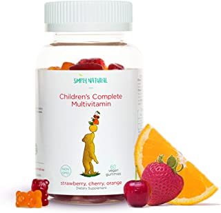 Daily Kids Multivitamin, 60 Gummies (30 Day Supply): Vitamin C, D3, and Zinc for Immunity, B12 for Energy, B6 for Cognitiv...