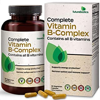 Sponsored Ad - Futurebiotics Complete Vitamin B Complex (Vitamin B1, B2, B3, B6, B9 - Folic Acid, B12) Contains All B Vita...