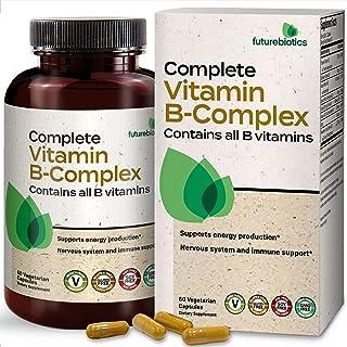 Futurebiotics Complete Vitamin B Complex (Vitamin B1, B2, B3, B6, B9 - Folic Acid, B12) Contains All B Vita...