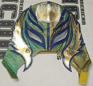 Rey Mysterio Signed Mask COA WWE Wrestling Lucha Libre Underground BLEM2 - PSA/DNA Certified - Autographed Wrestling Cards