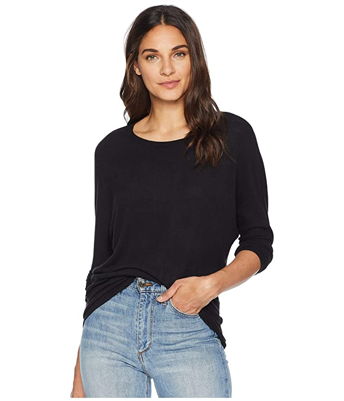 Cupcakes and Cashmere Ivery Ultra Soft Dolman Sweater (Black) Women