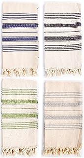 Sualla 100% Cotton - Kusadasi Turkish Towel - Multi Color (Set of 4)