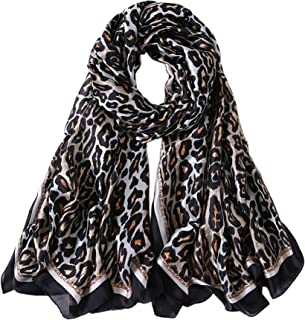 ALBERTO CABALE Elegant Silk Scarf Feline Stole Softness Feminine Fashion Luxury Bag Shawl Flexible Hair Accessory Fantasy
