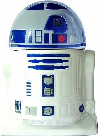 Preisvergleich für Star Wars 21824 R2-D2 Eierbecher mit Salzstreuer in Keramik-in Geschenkverpackung, 8 x 8 x 10 cm