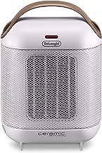 Delonghi HFX30c18.IW - Calefactor cerámico vertical, 2 ajustes de potencia de 900 y 1800 w, auto regulable e innovador, blanco