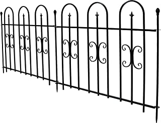 wrought iron fences 8ft wide panels
