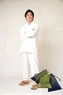 【日本製】 綾織作務衣【和粋庵】 (あやおりさむえ) 和粋庵特製巾着付き