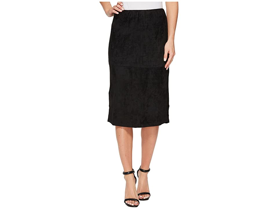 B Collection by Bobeau Mira Faux Suede Skirt (Black) Women