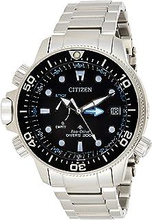 ساعة يد رياضية للرجال بعرض انالوج وسوار من الستانلس ستيل من سيتيزن - BN2031-85E