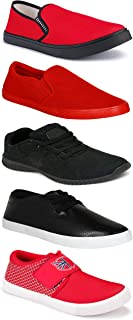 WORLD WEAR FOOTWEAR Sports Running Shoes/Casual/Sneakers/Loafers Shoes for MenMulticolors (Combo-(5)-1219-1221-1140-748-781)
